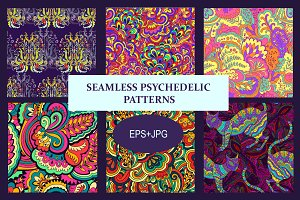 Seamless psychedelic patterns