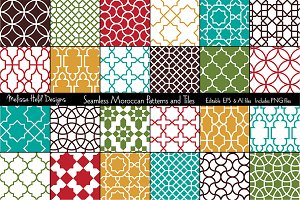 Seamless Moroccan Patterns & Tiles