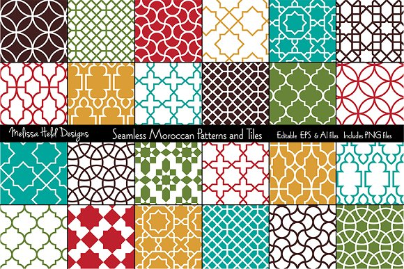 Seamless Moroccan Patterns Tiles