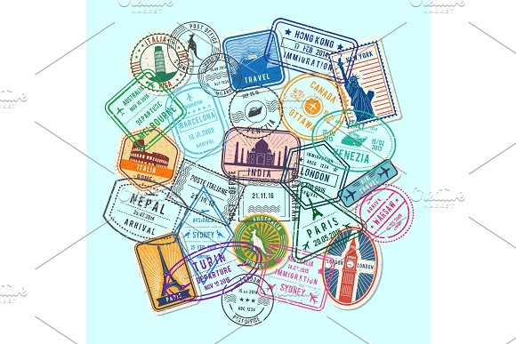 Vector World Post Stamp Marks