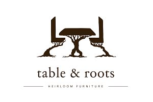 Table & Tree Roots / Furniture Logo