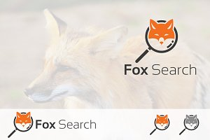 Smart Fox Search Detective Logo