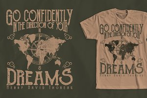 Vintage Quote T-Shirt Design