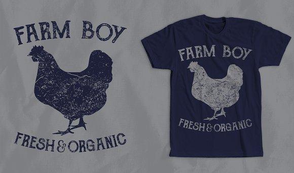 Farm Boy 2 T-Shirt Design