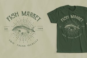 Fish Market T-Shirt Design