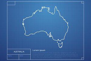 Australia Blueprint Map