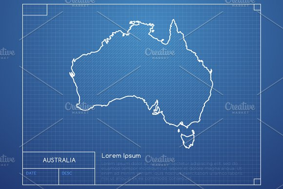 Australia Blueprint Map