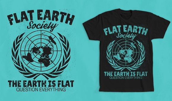 Flat Earth Society T-Shirt Design