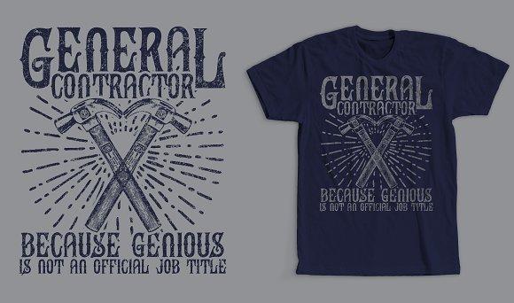 General Contractor T-Shirt Design