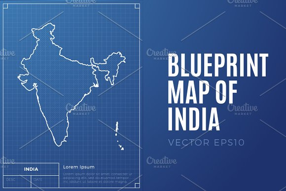 India Map Blueprint