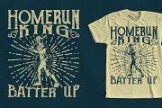Home Run King Baseball Design