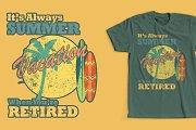 Retirement Summer T-Shirt Design