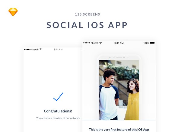 IOS Social Media UI Kit