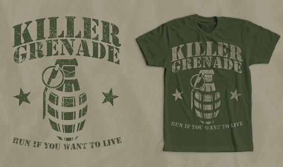Grenade Vintage T-Shirt Design