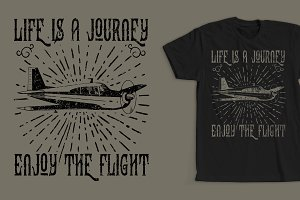 Life Is A Journey T-Shirt Design