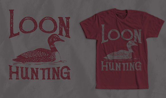 Loon Hunting T-Shirt Design