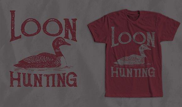 Loon Hunting T-Shirt Design