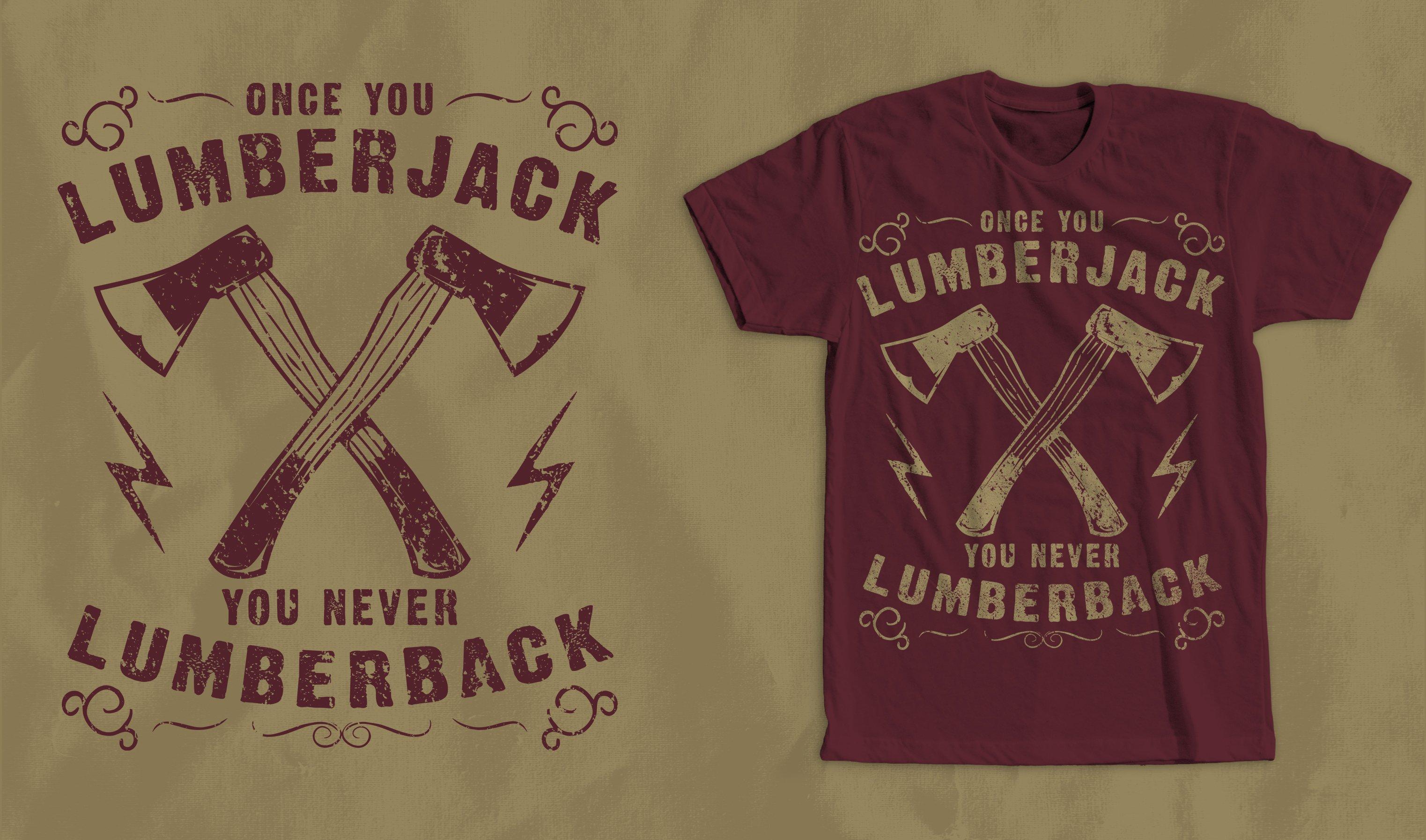 Lumberjack Vintage T Shirt Design Illustrations Creative Market
