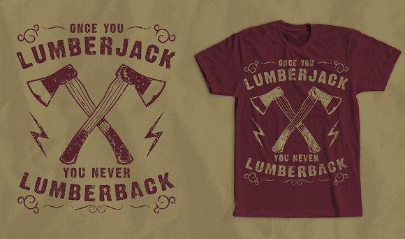 Lumberjack Vintage T-Shirt Design