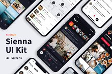 Sienna iOS UI Kit by Panderium Studio in Web Elements