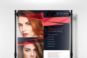 A3 Hair Salon Poster Template