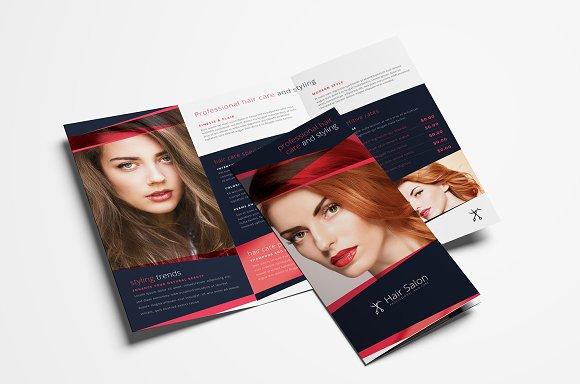 Hair Salon Trifold Brochure Template Brochure Templates Creative