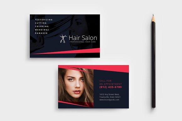 Hair Salon Business Card Template Business Card Templates