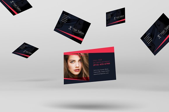 Hair salon business card template business card templates hair salon business card template business card templates creative market accmission Image collections