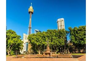 The Archibald Fountain in Hyde Park - Sydney, Australia
