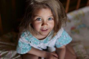 Sweet girl with beautiful eyes