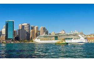 Cruise Ship in Sydney Harbour, Australia