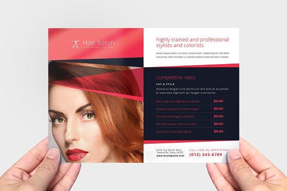 Hair Salon Flyer Template Flyer Templates Creative Market