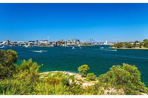 Sydney Harbour as seen from Barangaroo Reserve Park