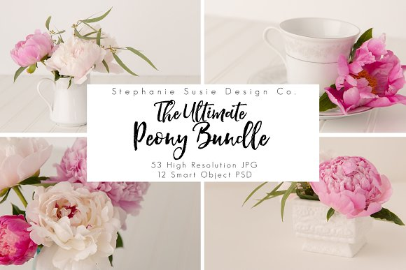 Ultimate Peony Styled Mock Up Bundle