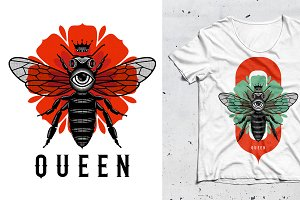 QUEEN T-Shirt illustration