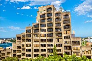 Sirius, a brutalist style apartment complex in Sydney, Australia. Built in 1980