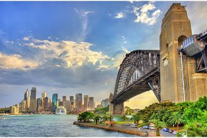 Sydney Harbour Bridge from Milsons point, Australia.