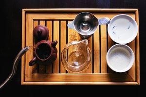 Tea ceremony in process