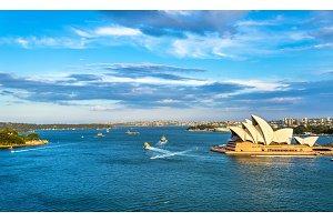 Sydney Harbour as seen from the Bridge - Australia