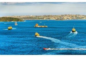 Boats in Sydney Harbour - Australia