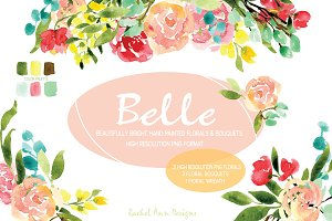 Belle Elegant Watercolor Florals
