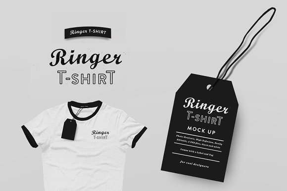 Ringer T-shirt Mock Up