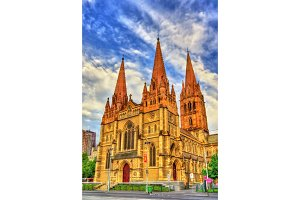 St Paul's Cathedral in Melbourne, Australia