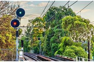 Railway signal in Melbourne, Australia