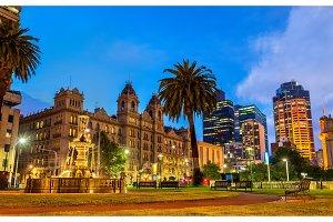 Garden at Parliament House in Melbourne, Australia