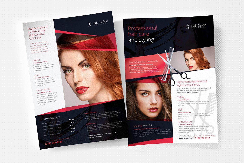 Hair Salon Poster Template Flyer Templates Creative Market