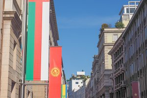 Expo Milano 2015 flags in Milan