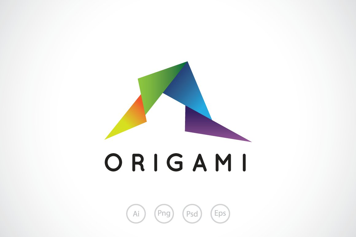 Random Origami Paper Logo Template Templates Creative Market