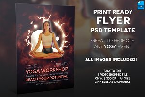 Yoga Event - A4 Flyer Template