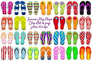 Summer Flip Flops Clip Art